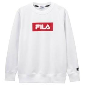 (MAC HOUSE/マックハウス)FILA フィラ ボックスロゴプリントトレーナー FL1647/レディース ホワイト