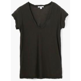(TOMORROWLAND/トゥモローランド)ハイゲージ VネックTシャツ WEK3182/レディース 18チャコールグレー