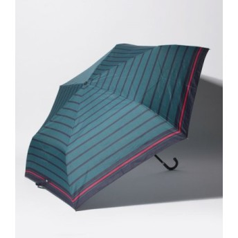 (Afternoon Tea LIVING/アフタヌーンティー・リビング)マリンボーダー折りたたみ傘 雨傘/レディース グリーン