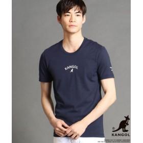 (NICOLE CLUB FOR MEN/ニコルクラブフォーメン)KANGOLコラボラバープリントTシャツ/メンズ 67ネイビー 送料無料