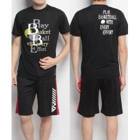 (SPORTS AUTHORITY/販売主:スポーツオーソリティ)エスエーギア/メンズ/半袖グラフィックTEE PLAY/メンズ ブラック