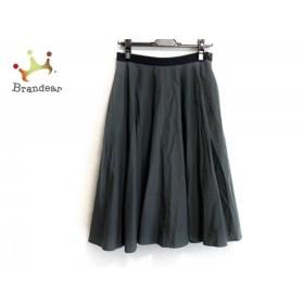 マーガレットハウエル スカート サイズ1 S レディース 美品 ダークグレー×黒 シルク  値下げ 20190712