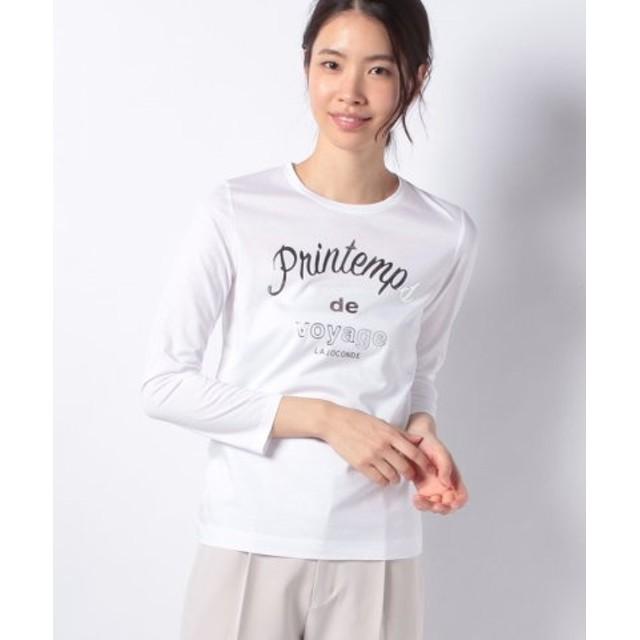 (LA JOCONDE/ラ ジョコンダ)【洗える】プリントTシャツ/レディース ホワイト