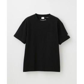 (LOVELESS/ラブレス)【Champion】WOMEN 別注ビッグシルエットエンブロイダリーポケットTシャツ/レディース ブラック