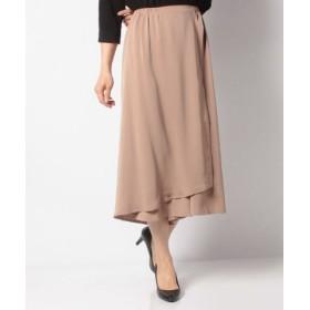 (aquagarage/アクアガレージ)ラップスカート風パンツ/レディース beige