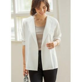 (STYLE DELI/スタイルデリ)サラサラ涼感ホワイトジャケット/レディース ホワイト 送料無料