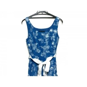 d62598aa956e7  中古  ローラアシュレイ LAURAASHLEY ワンピース サイズ38 L レディース ブルー 白 刺繍