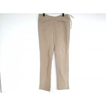 【中古】 アニエスベー agnes b パンツ サイズ38 M レディース グレージュ リネン