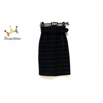 ジャスグリッティー スカート サイズ1 S レディース 美品 黒×グレー×レッド チェック柄 スペシャル特価 20190811