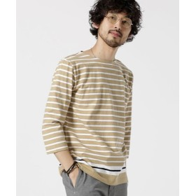 (nano・universe/ナノ・ユニバース)米綿バスクシャツ7/S/メンズ パターン4