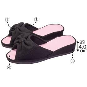 シークレットシェイプスリッパ - セシール ■カラー:ピンク ブラウン