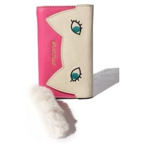 (Laplace box/ラプラスボックス)下まつ毛のネコのるん-iPhoneケース 6/6S/7対応/レディース アイボリーピンク