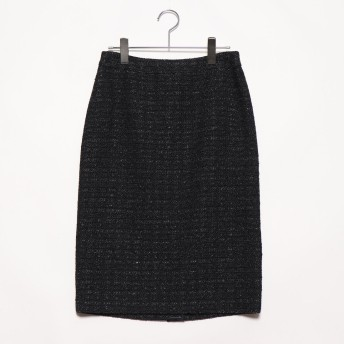 リネーム Rename ツイードタイトスカート (ブラック)