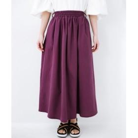 (haco!/ハコ)楽してスタイルが決まる 涼やか麻混スカート/レディース パープル