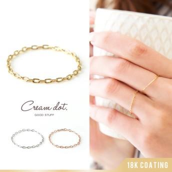 リング チェーンリング 指輪 レディース 重ね着け シルバー ゴールド ピンクゴールド 細身 華奢リング 結婚式 大人可愛い ファランジリング CZダイヤ(キュービック・ジルコニア)