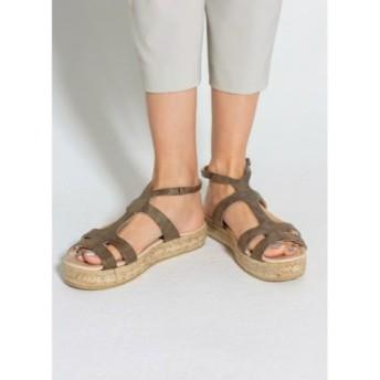 (STYLE DELI/スタイルデリ)【tredi Chic】03-platform sandals/embossed/レディース ブロンズ 送料無料