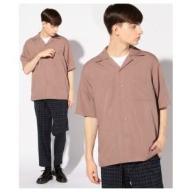 (Men's Bigi/メンズビギ)オープンカラーシャツ/開襟シャツ/メンズ ピンク