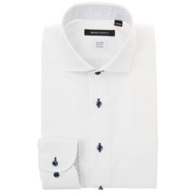 【THE SUIT COMPANY:トップス】【SUPER EASY CARE】ホリゾンタルカラードレスシャツ 織柄 〔EC・BASIC〕
