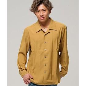 (SILVER BULLET/シルバーバレット)CavariA【キャバリア】無地オープンカラー長袖シャツ/メンズ オレンジ