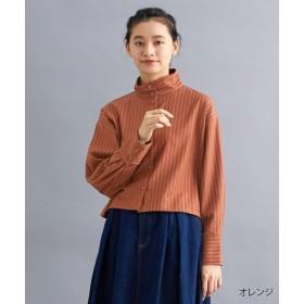 (merlot/メルロー)【TVドラマ着用】【IKYU】ストライプハイネックシャツ/レディース オレンジ