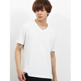 [マルイ]【セール】ケーブルジャガードVネック半袖Tシャツ/セマンティックデザイン(semantic design)