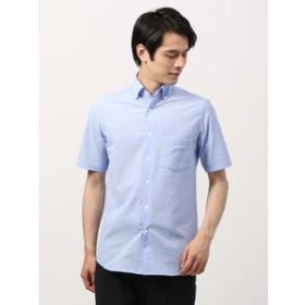 【THE SUIT COMPANY:トップス】【DESCENTE別注】ポリサッカースナップダウンカラー半袖シャツ