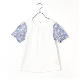【COMME CA FILLE:トップス】〔140cmから〕ストライプ Tシャツ