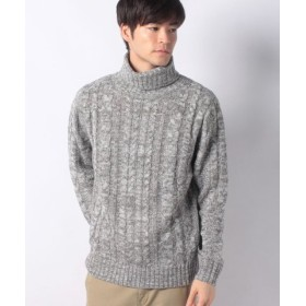 (MARUKAWA/マルカワ)セーター ケーブル 編み タートルネック/メンズ ミディアムグレー