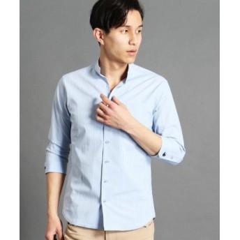 (NICOLE CLUB FOR MEN/ニコルクラブフォーメン)イタリアンカラー7分袖シャツ/メンズ 64サックス 送料無料