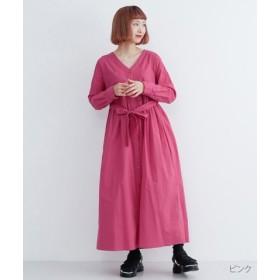 (merlot/メルロー)ウエストギャザーリボンワンピース/レディース ピンク