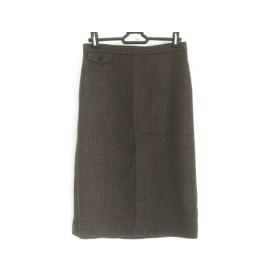【中古】 ウィムガゼット スカート サイズ36 S レディース グレージュ ダークグレー 千鳥格子
