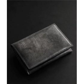 (Mia Borsa/ミアボルサ)[PRAIRIE] ブライドル レザー 名刺入れ 日本製 牛革/メンズ ブラック