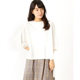 (Grand PARK/グランドパーク)バックロングTシャツ/レディース 28オフホワイト
