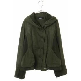(HIROKO BIS/ヒロコビス)【洗える】リネン製品染めフーディジャケット/レディース グリーン 送料無料