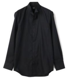 (Men's Bigi/メンズビギ)シャドーグレンチェックシャツ【EASY CARE】【ウィングカラー】/メンズ ブラック