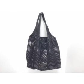 【中古】 アンテプリマ ANTEPRIMA トートバッグ - 黒 メッシュ 化学繊維 スパンコール