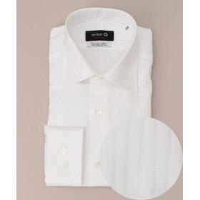 (enter G/エンタージー)【enter G】【イタリア生地】【日本製】ALBINIシャドーストライプシャツ/メンズ ホワイト系8 送料無料