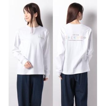 (X-girl/エックスガール)CURRENCY L/S REGULAR TEE/レディース ホワイト 送料無料