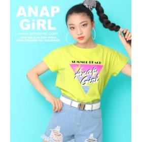 ANAP GiRL(ティーンズ)ヤシプリントTシャツ