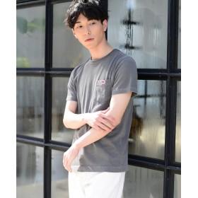 コーエン ピグメントダイワッペンポケットTシャツ メンズ DKGRAY L 【coen】