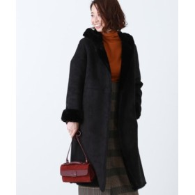 (BEAMS OUTLET/ビームス アウトレット)Demi-Luxe BEAMS/フード付き エコムートンコート/レディース BLACK