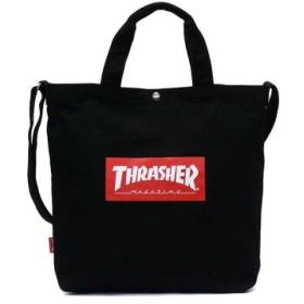 (GALLERIA/ギャレリア)スラッシャー トートバッグ THRASHER プリントトートショルダーバッグ 2WAY B4 通学 THC-803/ユニセックス ブラック系1
