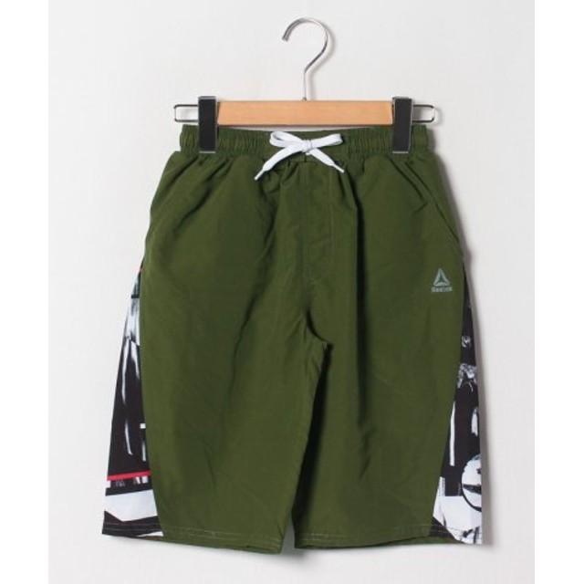 cecbbbd5d41 (VacaSta Swimwear/バケスタ スイムウェア)REEBOKワンポイントロゴセミロング丈サーフパンツ