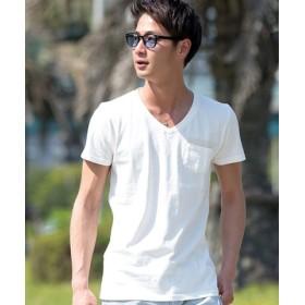 (SILVER BULLET/シルバーバレット)CavariA【キャバリア】 ピグメント加工半袖Tシャツ/メンズ ホワイト