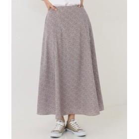 (SHARE PARK/シェアパーク)【洗える】フラワープリントAラインロング スカート/レディース ピンク系5