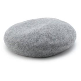 (OZOC/オゾック)フェルト風ベレー帽/レディース グレー(012)