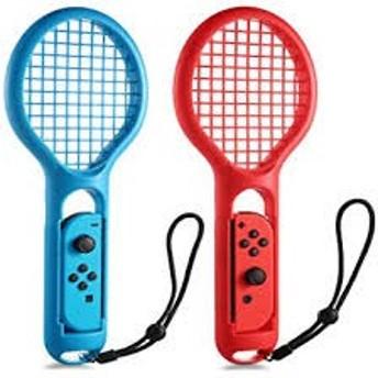 テニス Nintendo Switch Joy-Con専用 ラケット型アタッチメント KINGTOP 新型Switchゲーム マリオテニス用ラケット ハンドストラップ付