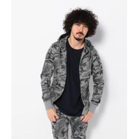 (LHP/エルエイチピー)AKM/エイケイエム/別注SetupJogHoodie Camouflage/メンズ BLACK