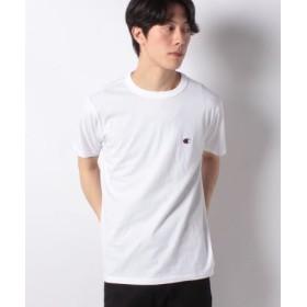 (SPENDY'S Store/スペンディーズストア)〈Champion〉ワンポイントTシャツ/メンズ ホワイト