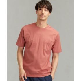 (green label relaxing/グリーンレーベルリラクシング)CM オーガニック クリア クルー SS 半袖 Tシャツ/メンズ PINK